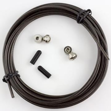 bosports springseil speed rope ersatzteil set schwarz. Black Bedroom Furniture Sets. Home Design Ideas