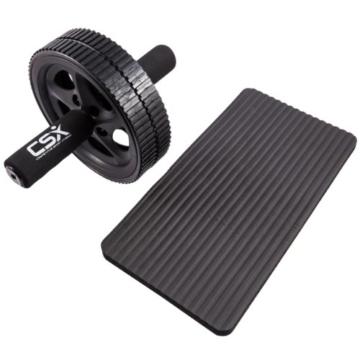 CSX Bauchroller Schwarz Doppel-Pro-Bauch/übungsrad Dual Rad mit extra dicker Knieauflagematte und Komfort-Schaumgriffen Phantastischer Fitnessworkout f/ür die Bauchmuskeln
