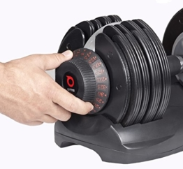 DialTech Hantelsystem - Einstellbare Hantel von 5 bis 32,5 KG im Set -