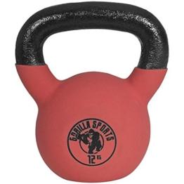 Gorilla Sports Kettlebell Red Rubber, 12kg, 10000491;3 -