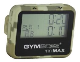Gymboss miniMAX Intervalltimer und Stoppuhr CAMOUFLAGE / HELLBRAUN SOFTBESCHICHTUNG -