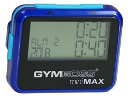 Gymboss miniMAX Intervallzeitgeber Und Stoppuhr BLAU / BLAU METALLIC-HOCHGLANZ -