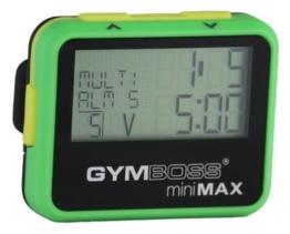 Gymboss Minimax Intervallzeitgeber Und Stoppuhr Grün-Gelb Softbeschichtung -