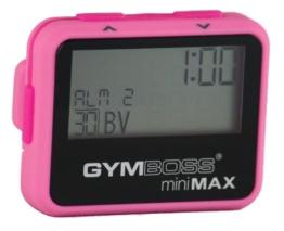 Gymboss Minimax Intervallzeitgeber Und Stoppuhr Pink / Pink Softbeschichtung -
