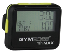 Gymboss Minimax Intervallzeitgeber Und Stoppuhr Schwarz-Gelb Softbeschichtung -