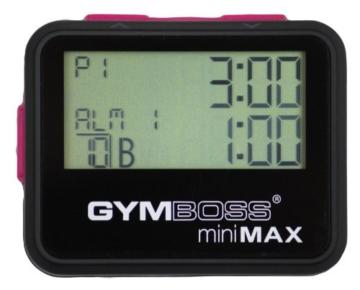 Gymboss Minimax Intervallzeitgeber Und Stoppuhr Schwarz-Rosa Softbeschichtung -