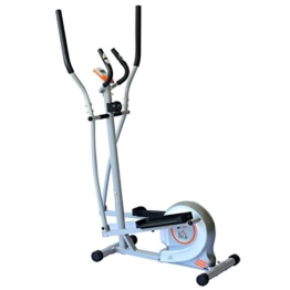 Homcom Fitnessbike Hometrainer Indoorsportbicycle Exercise Bike Fitness 7 Modelle (silber/Crosstrainer) -