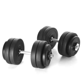 Kinetic Sports Kurzhantel Set 30 kg Hantel Gewichte Hantelscheiben (8 x 2,5 kg, 4 x 1,25kg) -