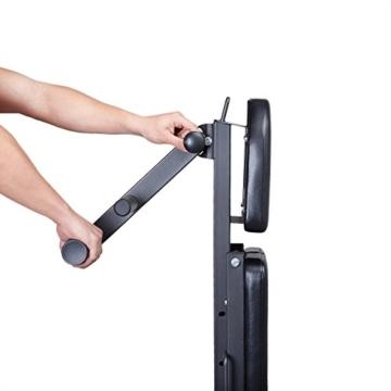 Klappbare Hantelbank von Profihantel | Überarbeitetes Model 2016 | Verstellbar, zusammenklappbar und dadurch platzsparend | Inkl. großem XXL-Übungsposter mit 30 Übungen -