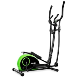 Klarfit ELLIFIT BASIC 10 Crosstrainer Heimtrainer inkl. Trainigscomputer (8-stufiger Widerstand, Trainingscomputer mit Zeit, Geschwindigkeit, Kalorienverbrauch und Distanz) grün-schwarz -
