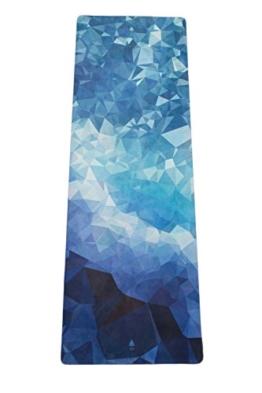 """Mala HYBRID Premium Yogamatte """"Poly Wave"""" aus Naturkautschuk mit Mikrofaser-Oberfläche für Bikram-Yoga, Hot-Yoga, Vinyasa, Crossfit, Fitness und andere Workouts -"""