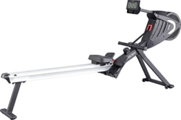 MAXXUS Rudergerät 7.2 - Air-Rower mit Luftwiderstand und Magnetbremssystem. Klappbares Design, ruhiger Lauf. Kugelgelagerte Sitzrollen. Ganzkörpertraining. -