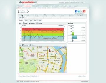 POLAR Sportuhr RC3 GPS HR Black, 90051072 -