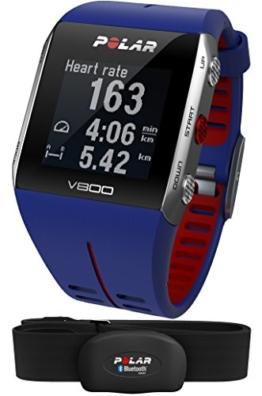 POLAR Trainingcomputer V800 HR, Blue Red, 90048948 -