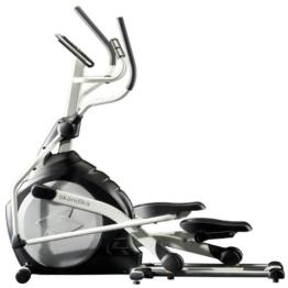 Skandika Crosstrainer CardioCross Carbon Pro SF-3200, 23,5 kg Schwungmasse, wartungsarmes Bremssytem über Magnettechnologie, Transportrollen, Kalorienverbrauch, Zeit und und Pulsmessung -