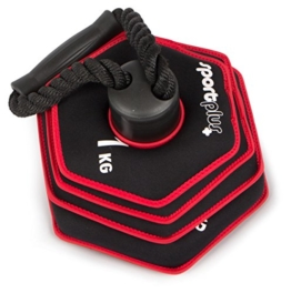 SportPlus Kettlebell, verstellbar von 1,5 bis 10 kg, Softhantel verringert die Verletzungsgefahr -