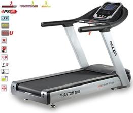 Studio-Laufband MAXXUS PHANTOM 10.0 - XXXL-Lauffläche, bis 25km/h. Extrem robustes Laufband mit Trainingsprogrammen, elektr. Steigungsverstellung. -