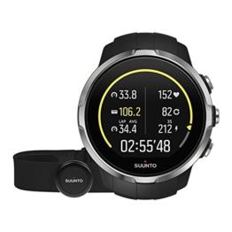 Suunto, Spartan Sport Black HR, GPS-Uhr für Multisport-Athleten, 10 Std. Akkulaufzeit, Wasserdicht, Herzfrequenzmesser + Brustgurt, Farbtouchscreen, Schwarz, SS022648000 -
