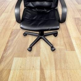 Transparente Bodenschutzmatte in zahlreichen Größen | passgenauer Schutz von Hartböden | Unterlegmatte unter Bürostühle, Fitnessgeräte etc. (100x160cm) -
