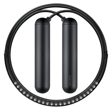 Tangram Factory Smart Rope Springseil, eingebaute LEDs zeigen Umdrehungen an: large, schwarz, TG1001BL -