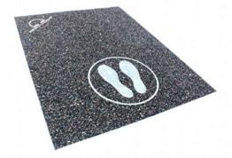Unterlage für das Springseil / Sprungseil Training, auch geeignet für Fitnessgeräte, 75 x 150cm -