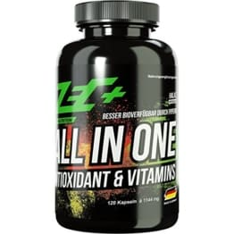 ZEC+ ALL in ONE ANTIOXIDANT & VITAMIN | Multivitamin-Präparat mit Antioxidantien und optimalem Wirkstoffkomplex | alle Vitamine und Mineralien | Spurenelemente | zusätzlich Traubenkernextrakt | Alpha-Liponsäure | Resveratrol | 120 Stück -