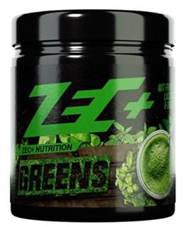 ZEC+ GREENS | Superfood Drink aus Obst und Gemüse Pulver | MICRONÄHRSTOFFE | Gerstengras | Arabischer Gummi Pulver | Fruit & GreensTM Extrakt | Apfel-Faser | Spirulina Pulver | Chlorella Pulver | Acerolapulver | 300g -