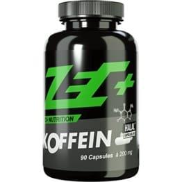 ZEC+ hochdosiertes KOFFEIN | 200 mg in Reinform | Fatburner | regt den Stoffwechsel an | beugt Müdigkeit vor | kann Konzentration steigern | 90 Kapseln -