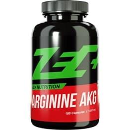 ZEC+ Kapseln ARGININ | Pump Supplement | verbesserter Blutfluss und Nährstofftransport | Aminosäure L-Arginin mit bester Bioverfügbarkeit durch AKG Alpha Ketoglutarat | 180 Kapseln -