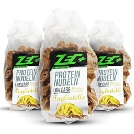 ZEC+ PROTEIN Low Carb NUDELN 3er Pack - 3 x 250g MADE IN GERMANY -