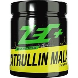 ZEC+ Pulver L-CITRULLIN-MALAT | PRE WORKOUT Aminosäure | verbesserte Durchblutung der Muskulatur | N.O.-Vorstufe (Nitric Oxide/Stickstoffmonoxid) | steigert Pump und Leistungsfähigkeit | höchste Qualität | Made in Germany | 250g -