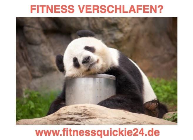 Fitness im Alter verschlafen