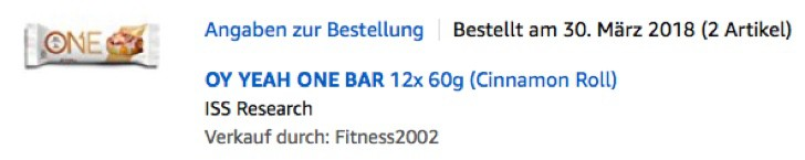 OY YEAH ONE BAR - PROTEINRIEGEL