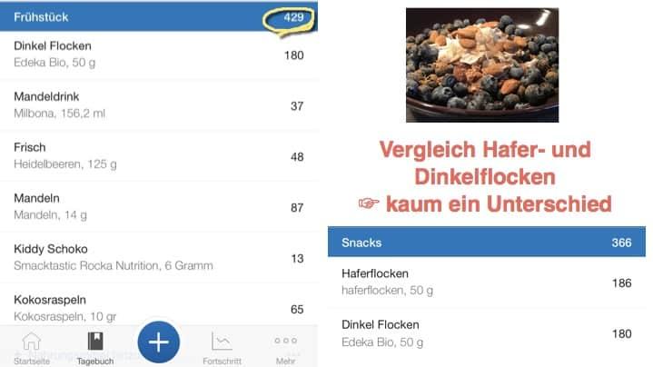 DINKELFLOCKEN-REZEPT FRÜHSTÜCK TRACKING