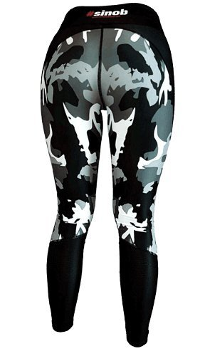BlackLine 2.0 Leggins CamouflArsch meshed Hose Sport Fitness Gym Bodybuilding Größe / Size XS - 3